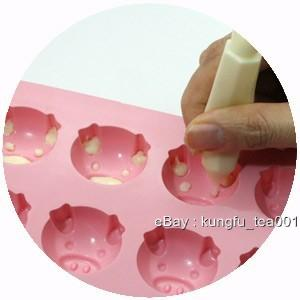 ... 16p Piggy Pig Silicone Ice Chocolate Mini Cake Jelly Candy Mold Mould