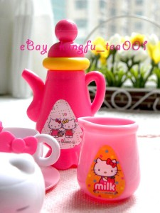 Sanrio Hello Kitty Miniature Tea Time Set Cup Teapot Plate