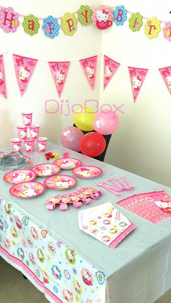 Hello-Kitty-Birthday-Party-Supplies-Balloon-LootBag-Fork-Cup-Napkin-Tiara-Banner