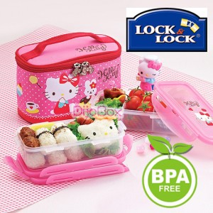 hello kitty x lock lock bpa free lunch boxes bento set w insulated bag 731dp ebay. Black Bedroom Furniture Sets. Home Design Ideas