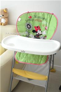 2 Side Minnie Mouse Baby High Chair Car Seat Cover Pad Stroller Pram Line
