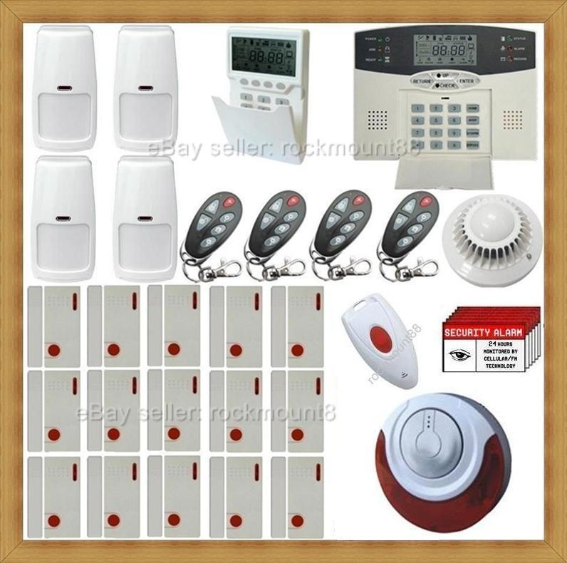 top rated wireless home security system burglar alarm ebay. Black Bedroom Furniture Sets. Home Design Ideas