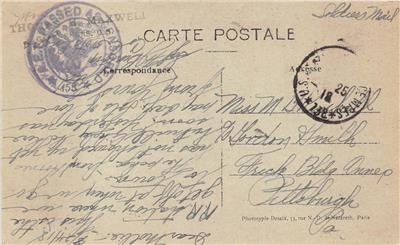 Mailing a postcard from france to usa