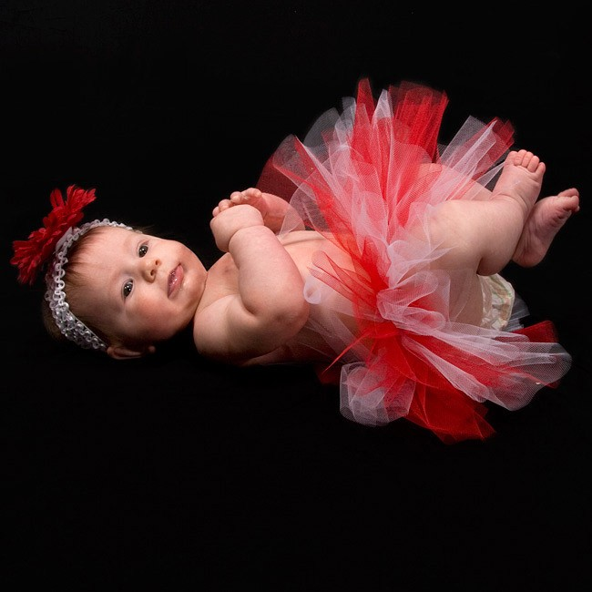 girls christmas holiday tutu cute baby shower xmas gift photo props