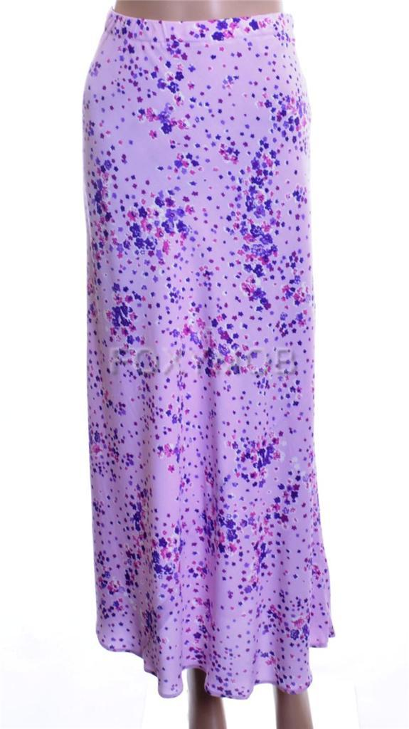 LILAC-PURPLE-FLORAL-PRINT-FLOATY-SKIRT-SIZE-10-ELASTICATED-WAIST-LONG-or-SHORT