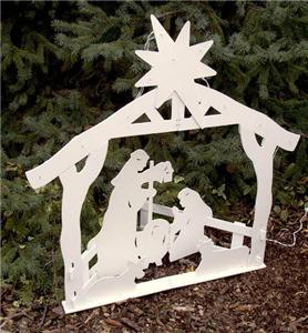 Lighted outdoor nativity christmas yard decoration new ebay for Baby jesus lawn decoration