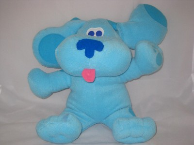 big blue 39 s clues blue plush stuffed animal dog puppy 11p6 toy lovey 22 blues. Black Bedroom Furniture Sets. Home Design Ideas