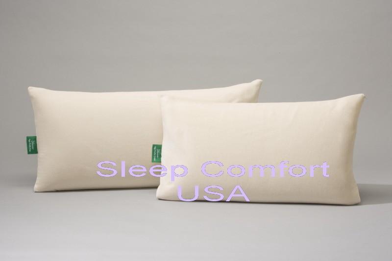 100 Natural Latex Foam Organic Cover High Loft Pillow Ebay