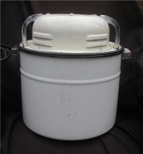 Countertop Washing Machine : ... SEARS Portable Washing Machine WORKS Countertop Enamel Camping eBay