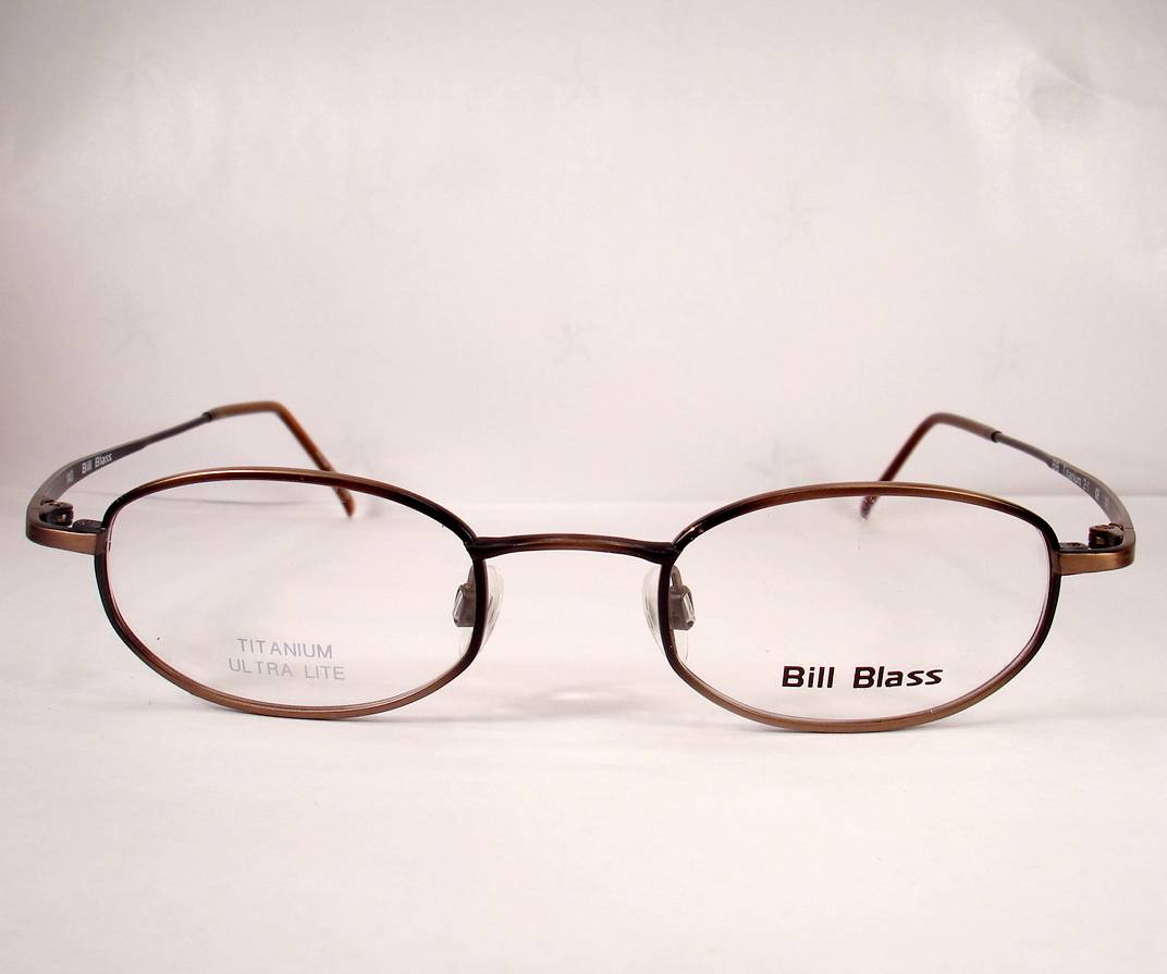 bill blass titanium 2 brown eyeglasses frames eyewear