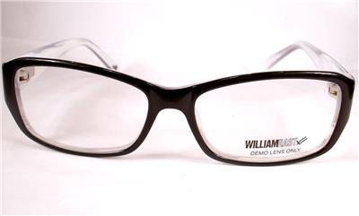 William Rast 1040 Black White Women eyeglasses Frames New ...