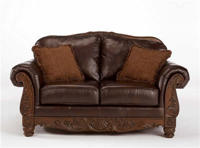 100 Leather Upholstery Sofa Love North Shore By Ashley Furniture Millennium Ebay