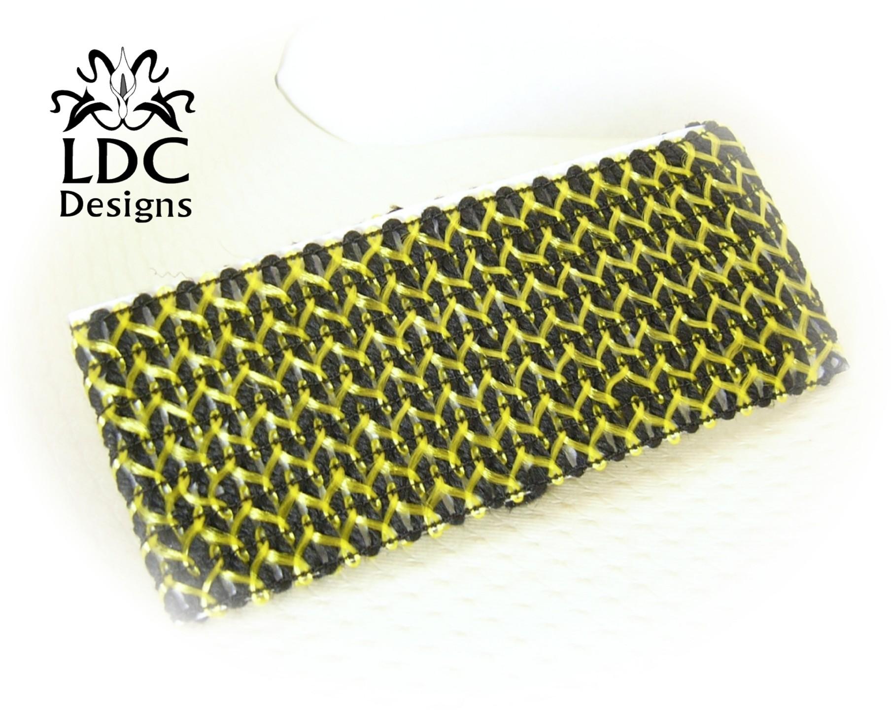 Stretch Crochet Knit Yoga Wide Headband Black Sport Hair ...