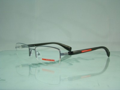 Prada Half Frame Glasses : PRADA VPS 51B AAG-101 BLACK HALF RIM GLASSES FRAMES 51 eBay