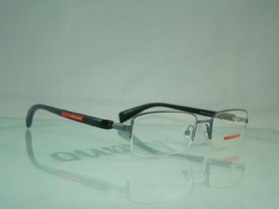 PRADA VPS 51B AAG-101 BLACK HALF RIM GLASSES FRAMES 51 eBay