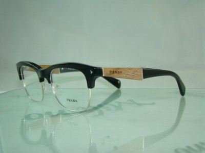 PRADA VPR 22O 1AB 101 BLACK & WOODEN FINISH Spectacles ...