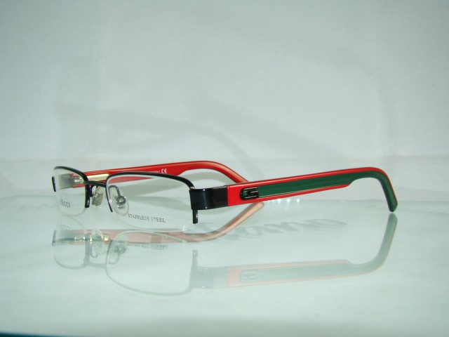 Gucci Glasses Half Frame : New GUCCI GG 1843 GSW BLACK & RED Half Rim Frames ...