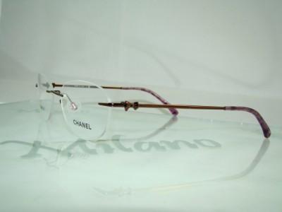 Chanel Eyeglasses Frames Usa : CHANEL 2164 296 BROWN & LILAC RIMLESS EYEWEAR EYEGLASSES ...