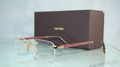 Tom ford tf 5080 831 gold gold plated rimless frames for Table th td tf
