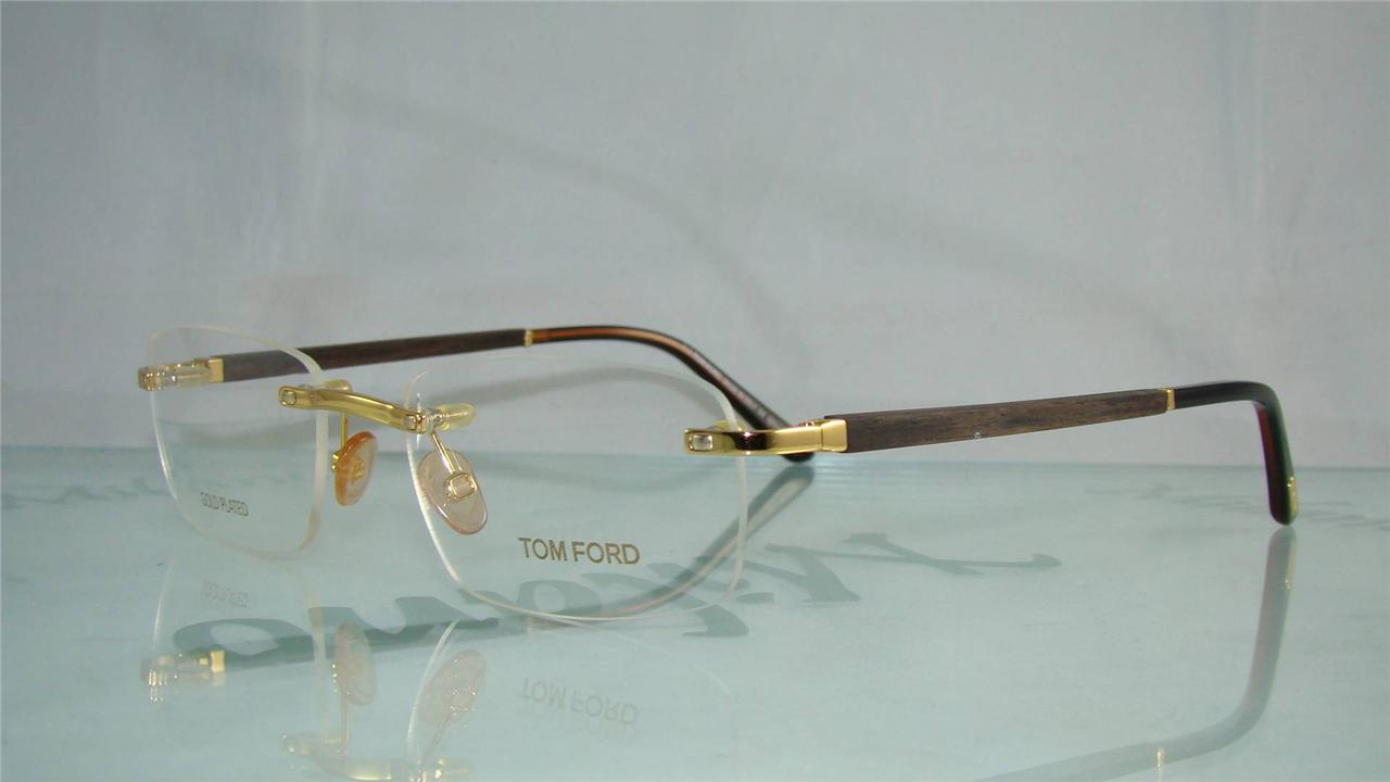 Gold Plated Glasses Frames : TOM FORD TF 5080 E69 GOLD/GOLD PLATED RIMLESS Frames ...