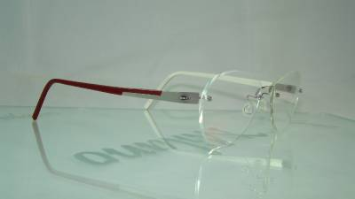 Rimless Aviator Eyeglass Frames : LINDBERG SPIRIT TITANIUM 2136 RED RIMLESS Aviator Glasses ...