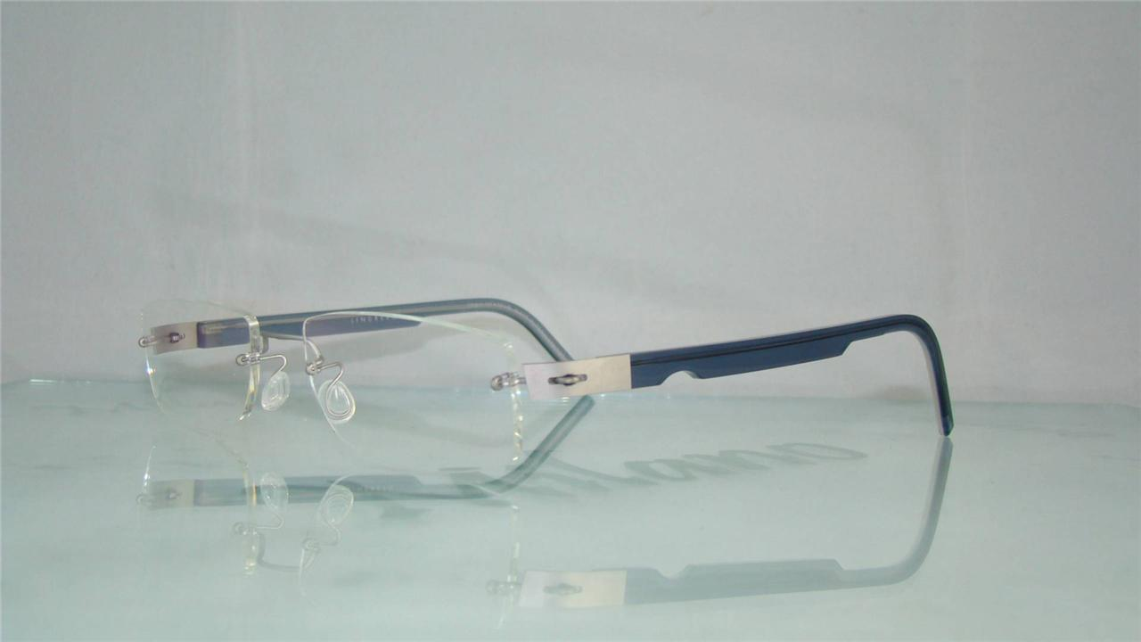 LINDBERG 2142 K132 BLUE SPIRIT TITANIUM RIMLESS Glasses ...
