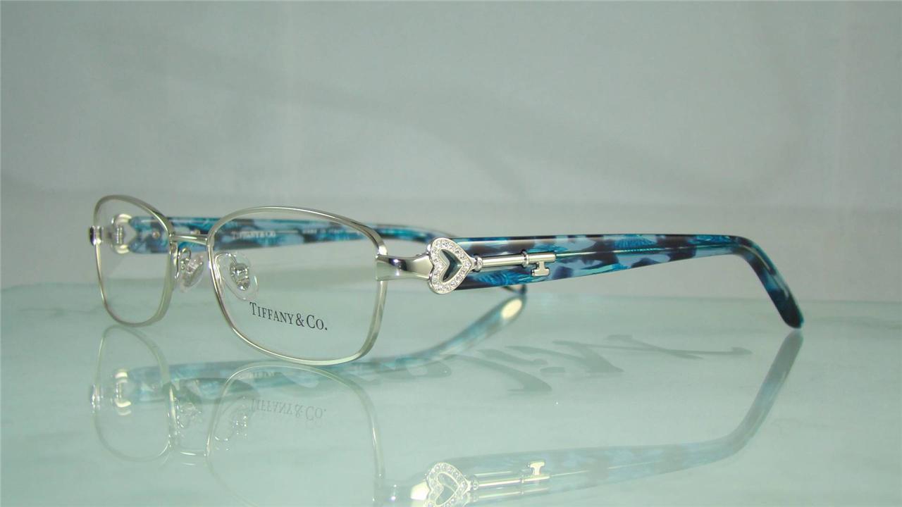 Tiffany Glasses Frames Blue : TIFFANY & CO TF 1061 B 6051 SILVER & BLUE GLASSES ...
