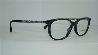 Chanel Eyeglasses Frames Usa : CHANEL 3221 1513 Black & Gunmetal CAT EYE Frames Glasses ...