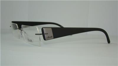 Rimless Glasses Edge Polish : Silhouette TITAN EDGE 7596 6057 Black Ruthenium Frames ...