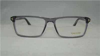 Eyeglass Frame Size 58 : Tom Ford TF 5408 020 Transparent Gray & Black Glasses ...