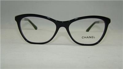CHANEL 3330 501 Black Glasses Eyeglasses Frames Size 53 eBay