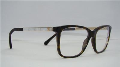 CHANEL 3331 H 714 Dark Havana / Mother of Pearl Eyeglasses ...