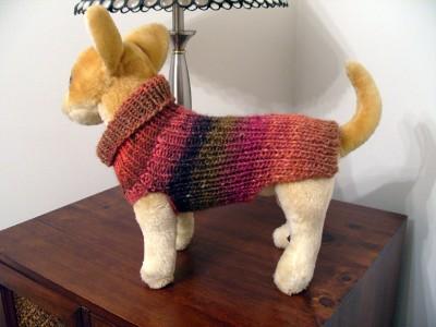 Knitting Pattern For Xs Dog Sweater : Knitting Pattern for dog sweater XXS/XS/S eBay