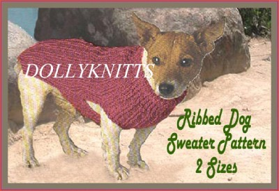 Knitting Pattern For Staffie Dog Coat : Knitting pattern for Terrier Dog Coat. eBay