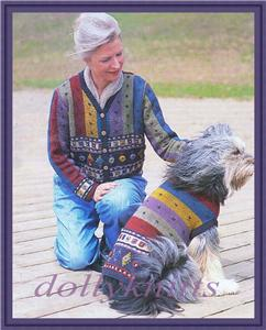 knitting pattern for dog and owner matching sweaters ebay. Black Bedroom Furniture Sets. Home Design Ideas
