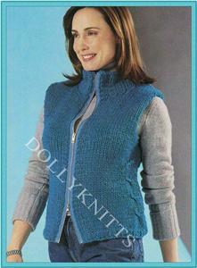 Knitting Pattern Ladies Gilet : Knitting pattern for Ladies Gilet/Bodywarmer - chunky knit. eBay