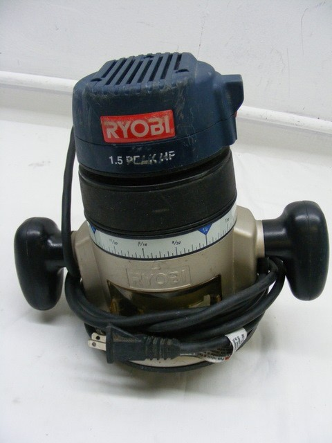 Ryobi router r1801m1 with base r181fb1 1 5 peak hp ebay for 3 1 4 hp router motor only