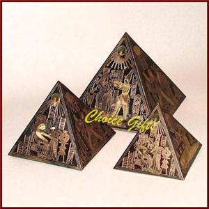 Set of 3 Egyptian Pyramids S
