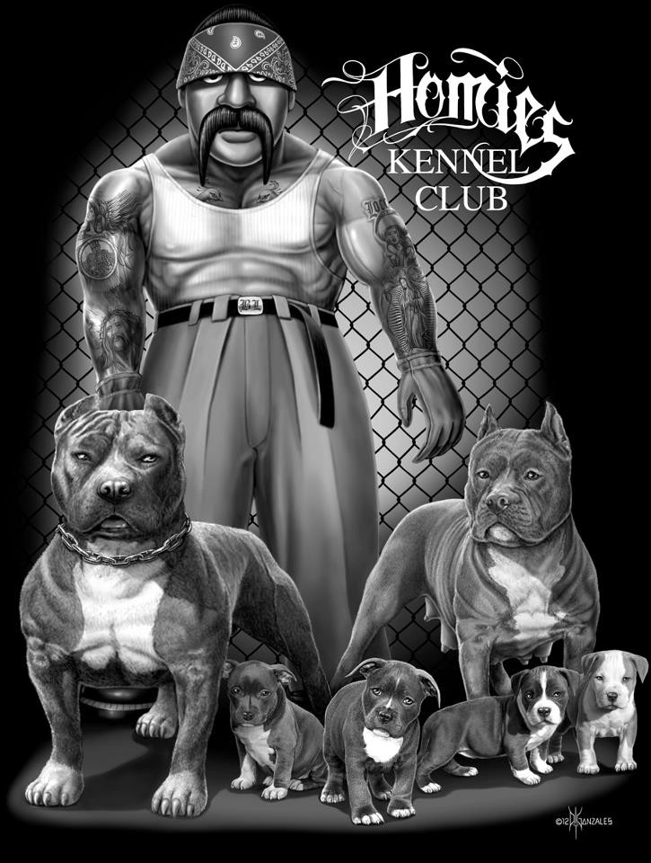 homie signature david gonzales art kennel club pit bull