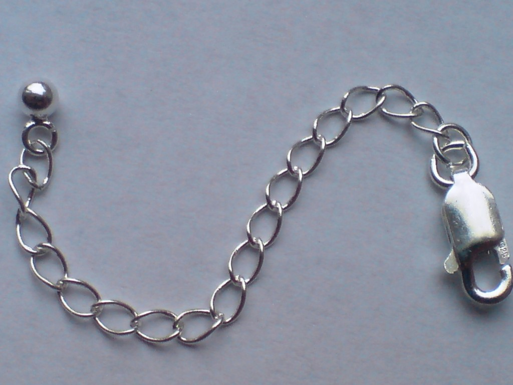 Details about 14kt gold necklace chain extender with gold parrot clsp