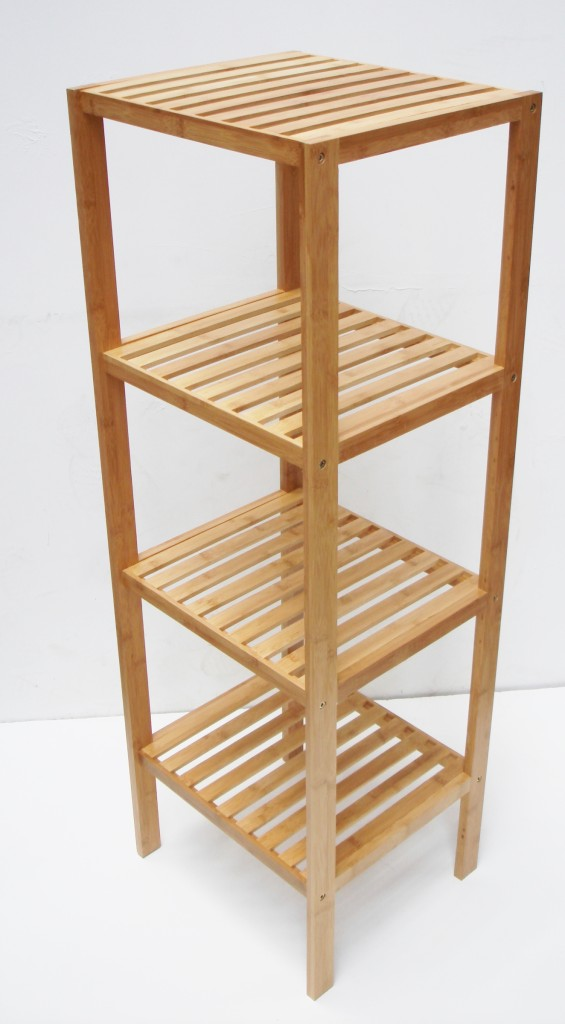 4 tier wooden kitchen storage shelving shelf rack unit ebay