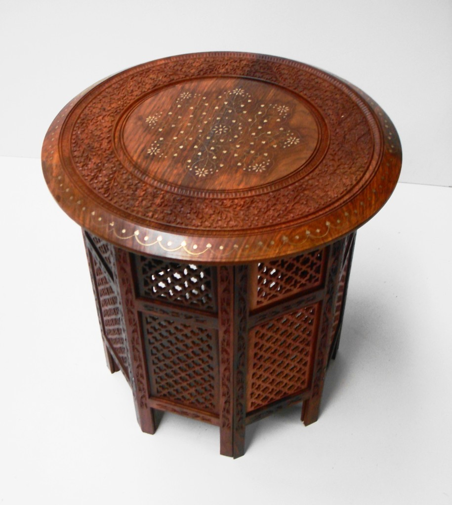 Beautiful round hand carved indian wooden tables side Beautiful end tables