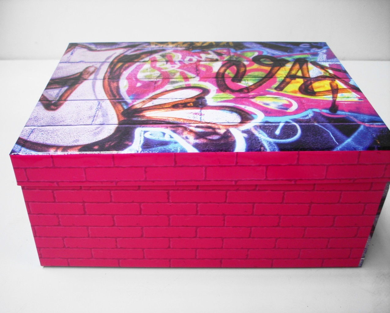 Nyc or guitar christmas birthday cardboard gift box craft