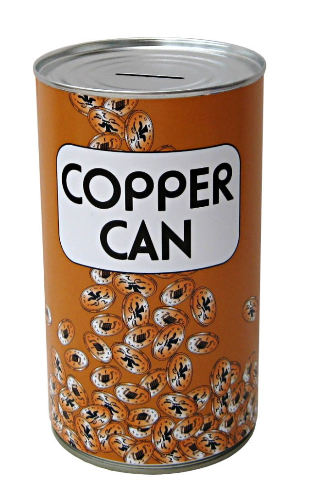 Large funny novelty money box jar tin piggy bank cash can for How to open a tin piggy bank