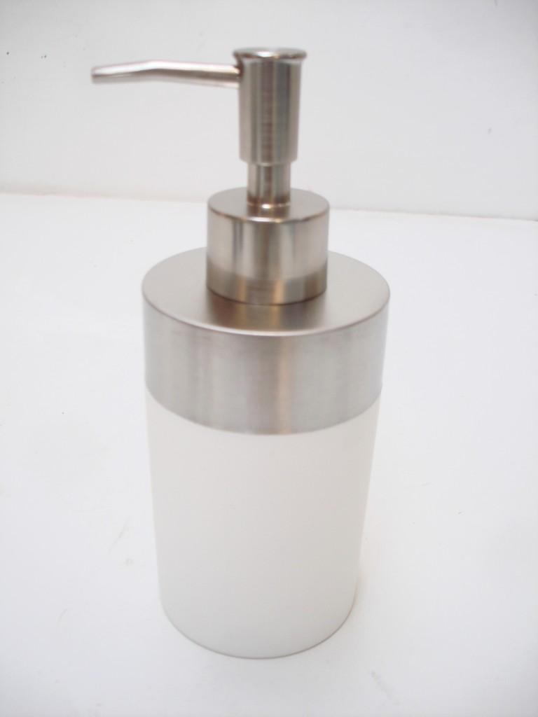 modern chrome bathroom kitchen soap dispenser toilet brush black  - modernchromebathroomkitchensoapdispensertoiletbrush