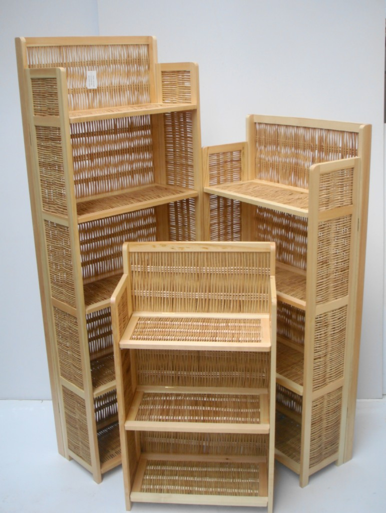 543 TIER PINE FOLDING PORTABLE WOODEN BOOKCASE