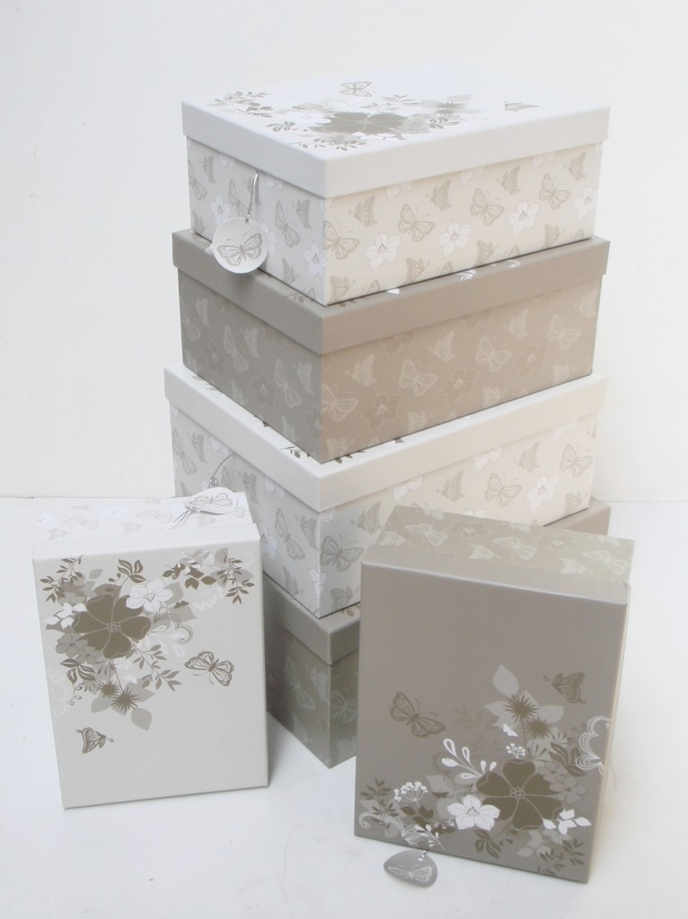 Copyright butterfly flowers cardboard a paper storage box