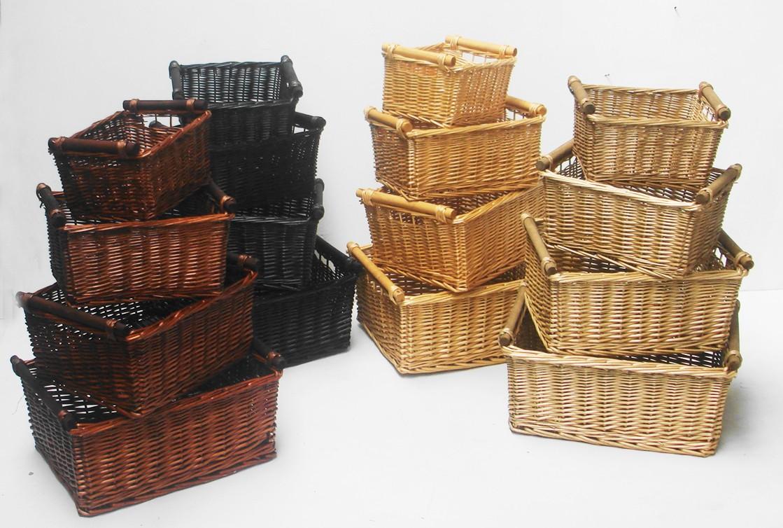 Kitchen Log Wicker Storage Basket With Handles Xmas Empty Hamper Basket Ebay