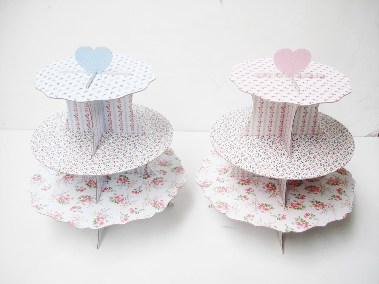 VINTAGE-FLOWER-BIRTHDAY-CHRISTMAS-WEDDING-PARTY-CARDBORAD-3-TIER-CUP-CAKE-STAND