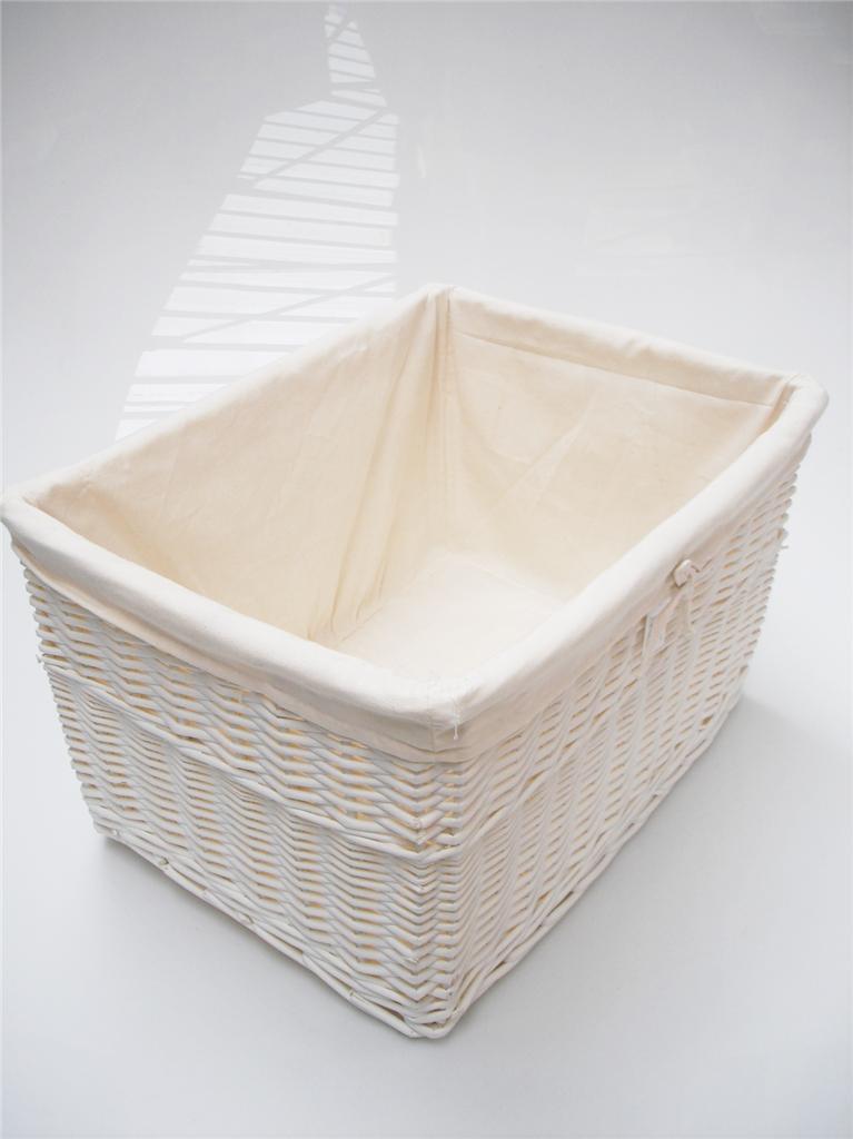 Huge large big deep wider wicker storage kitchen toy log hamper laundry basket ebay - Large wicker laundry hamper ...